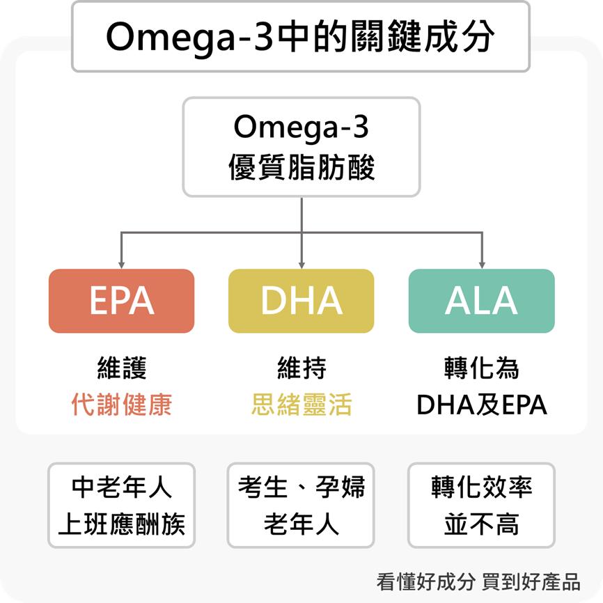 Omega-3、EPA、DHA是什麼